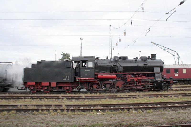 Nikolauszug 2008 mit Zuglok 58 311 von Stuttgart nach Nördlingen ...